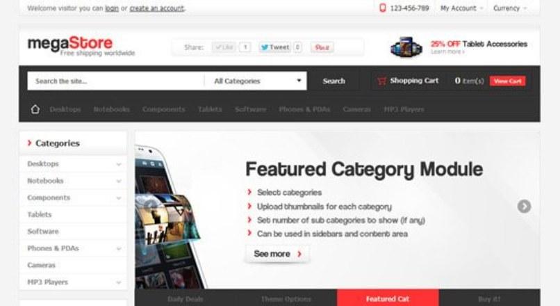 MegaStore — Themeforest OpenCart Theme