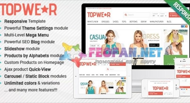 Responsive OpenCart Theme — BossThemes TopWear