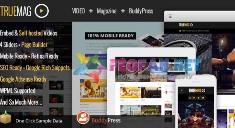 True Mag — WordPress Theme for Video and Magazine