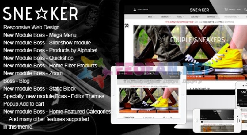 Opencart Fashion Shoes Store — Sneaker