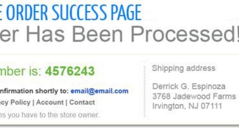 Edit Success Page