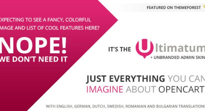 Ultimatum — Responsive OpenCart theme with blog