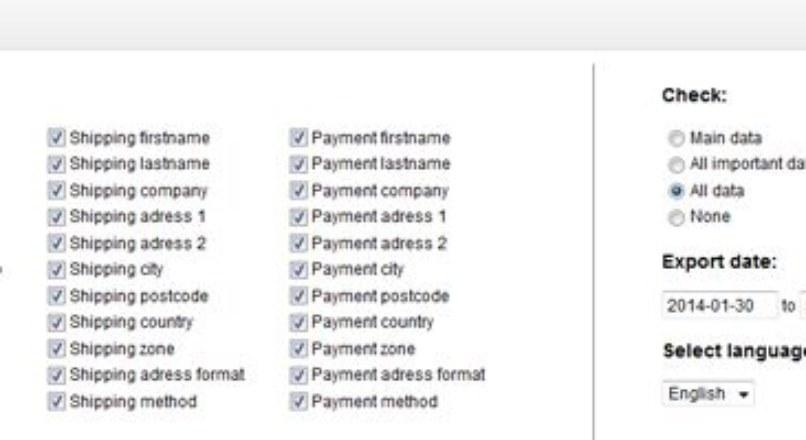 OpenCart Export — Orders To Excel