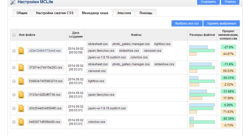 MCLite — Автоматическое сжатие CSS 1.1