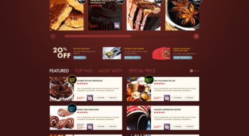 OpenCart Chocolate Theme