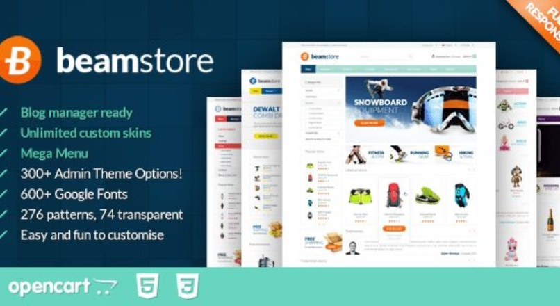 BeamStore — Responsive Multipurpose Opencart Theme