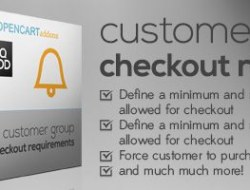 Customer Group Checkout Requirements(v4.0.1)
