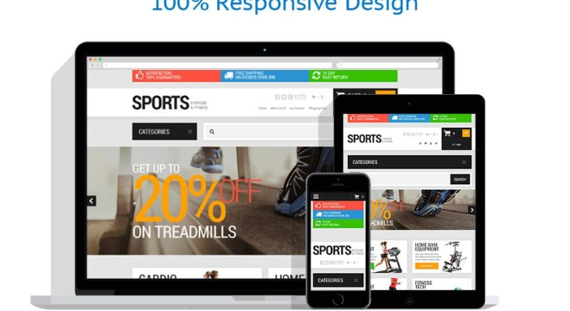 Active Sports Store OpenCart Template