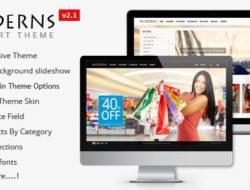 Moderns — Fullscreen Background OpenCart Theme