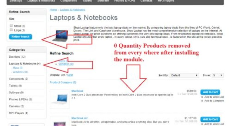 Hide Products if quantity reach to 0 from filters & website