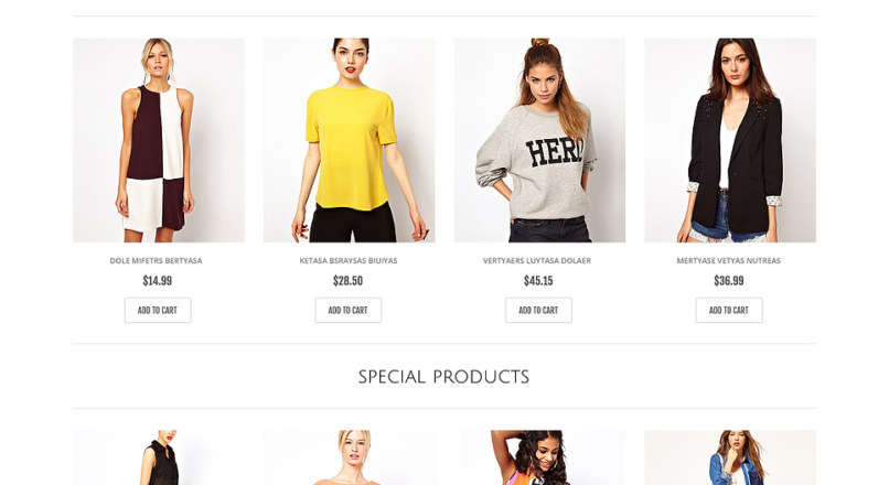 Responsive Casual Clothes Store OpenCart Template