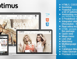 Optimus — Flexible Responsive OpenCart Theme