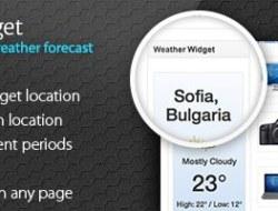Weather Widget — Yahoo Powered Weather Forecast
