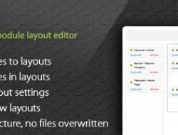 VisualLayouts — Drag and Drop Module Layout Editor