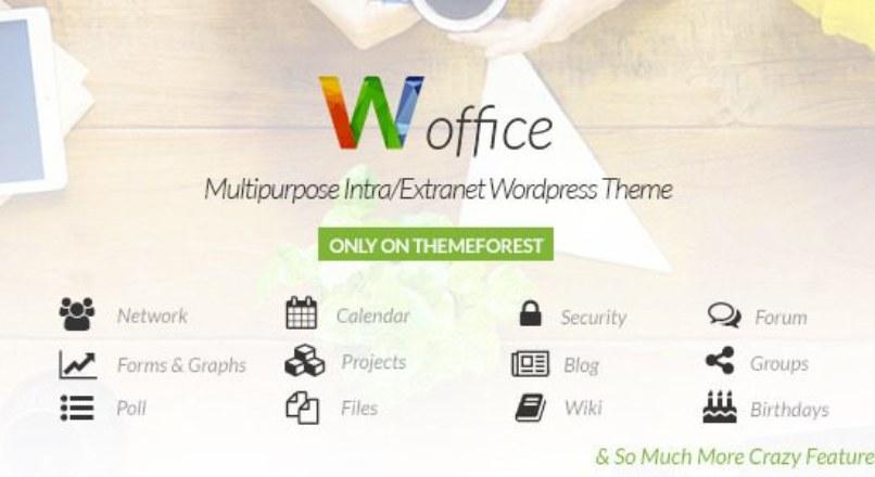 Woffice v1.4.4 – Intranet/Extranet WordPress Theme