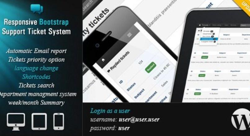 Responsive Ticket System v1.3 – WordPress Plugin