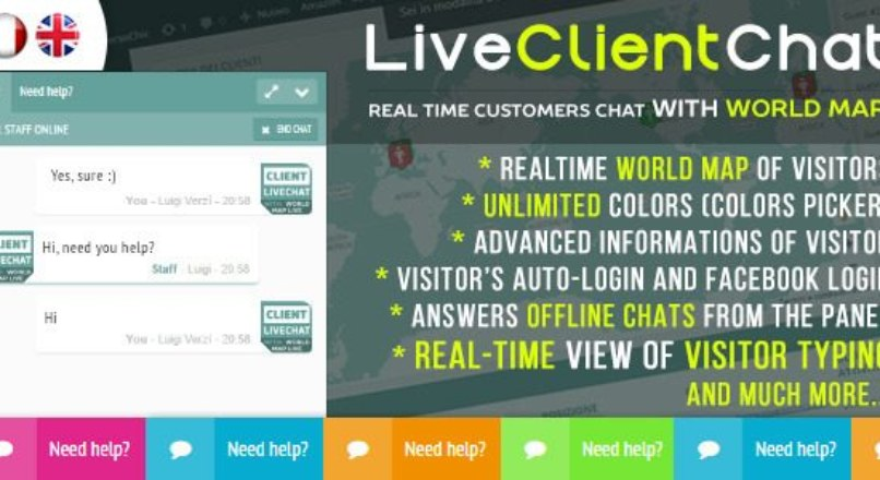 Live Client Chat v1.0 – Help Chat With Visitors Map