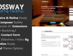 CrossWay v1.1 – Startup Landing Page Bootstrap WP Theme
