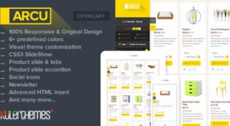 Arcu-Responsive template OpenCart