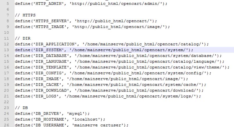 Универсальный конфиг (config.php) для OpenCart 1.5.х и 2.x