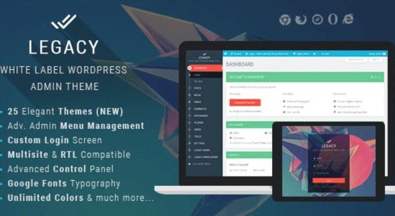 Legacy v4.0 – White label WordPress Admin Theme