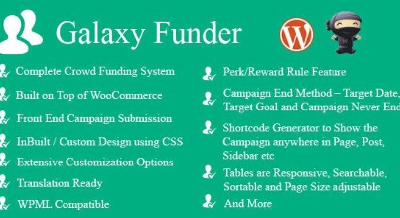 Galaxy Funder v6.5 – WooCommerce Crowdfunding System