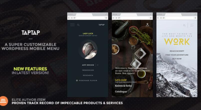 TapTap v2.3 – A Super Customizable WordPress Mobile Menu