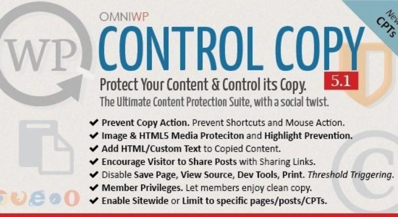 WP Control Copy v5.1 – Protect Content & Serve Copy