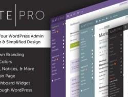 Slate Pro v1.1.1 – A White Label WordPress Admin Theme