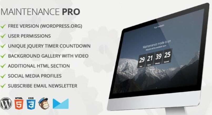 Maintenance PRO v2.6 – WordPress Plugin