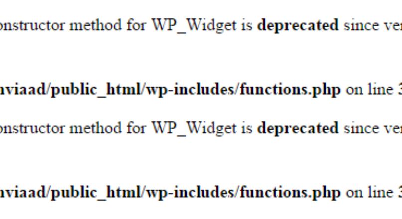 Ошибка WP_Widget __construct()