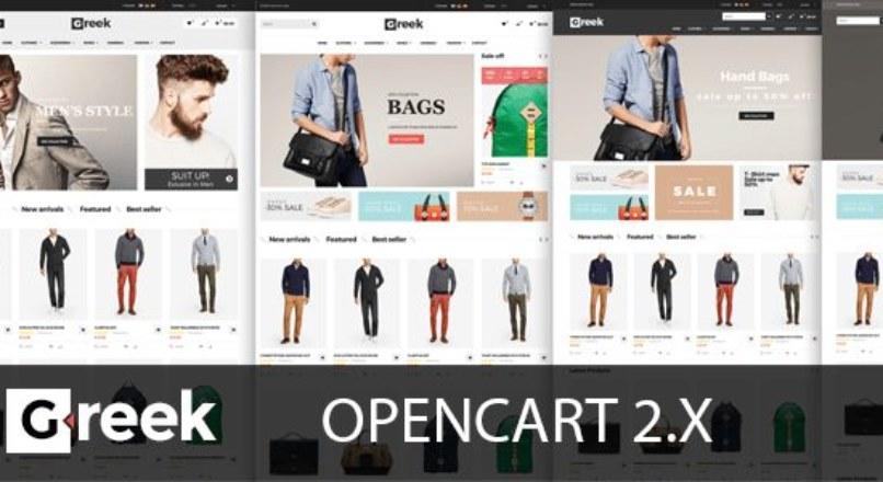 Greek — Responsive OpenCart Theme