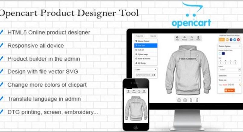 Opencart Custom Product Designer v.3.1.0