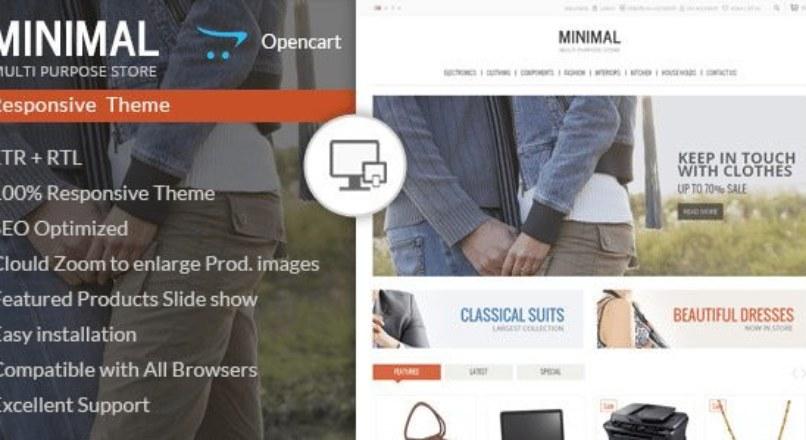Minimal Multi Purpose — Responsive Opencart Theme