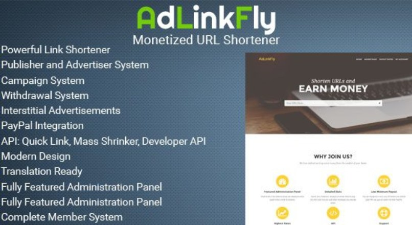 AdLinkFly — Monetized URL Shortener