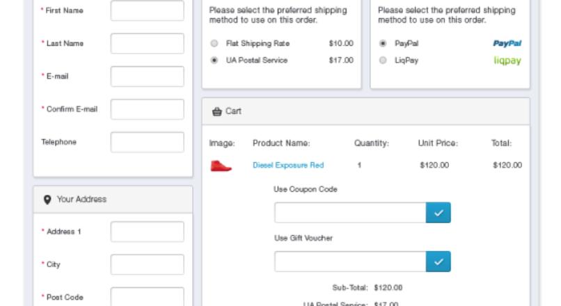 AJAX Quick Checkout (one-page-checkout, checkout checkout) — v.6.3.2.5