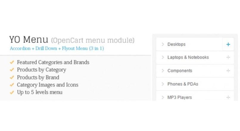 YO Menu (category menu module) updated 1. march 2017