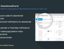 AbandonedCarts 5.5 (null) for OpenCart 2.x, 3.0 (beta)