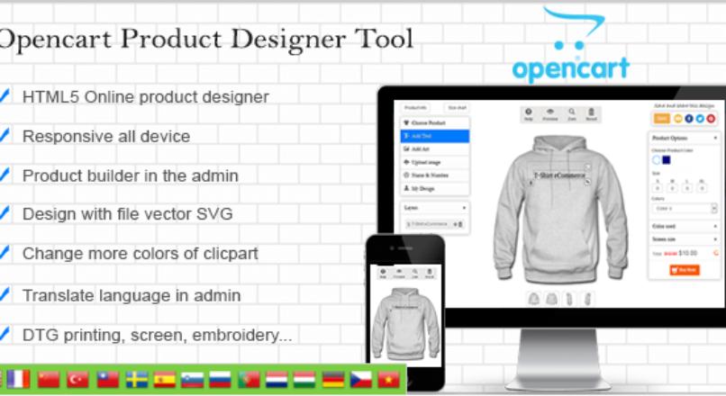 Opencart Custom Product Designer v 4.1.5