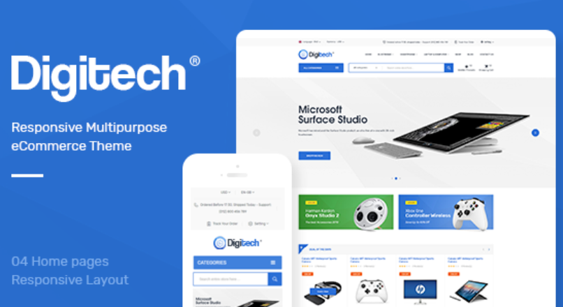 Digitech — Responsive Opencart 3.x Theme