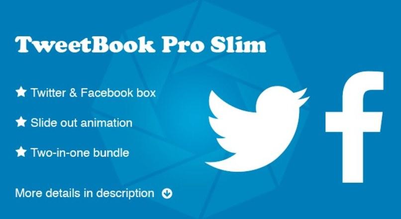 TweetBook Pro Slim (Facebook & Twitter Module)