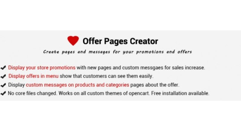Offer Pages Creator: Display Offer With Pages, Messages — Popup