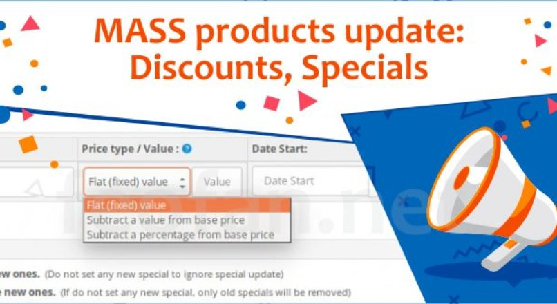 MASS products update: Discounts, Specials v.5.0.1