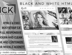 Click Models Studio — HTML Template