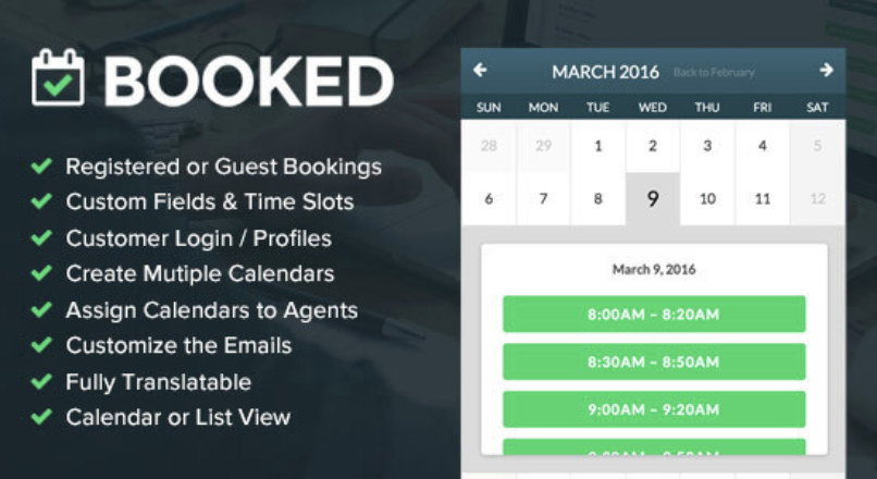 Booked 2.1 – Appointment Booking for WordPress nulled