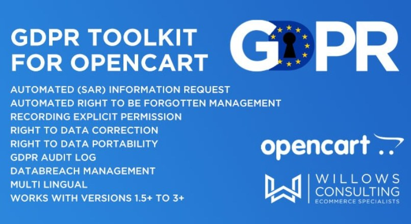 GDPR Toolkit for Opencart 2.3.x