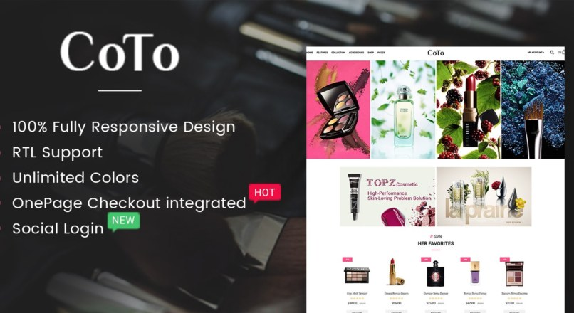 Coto The Cosmetic eCommerce OpenCart Theme