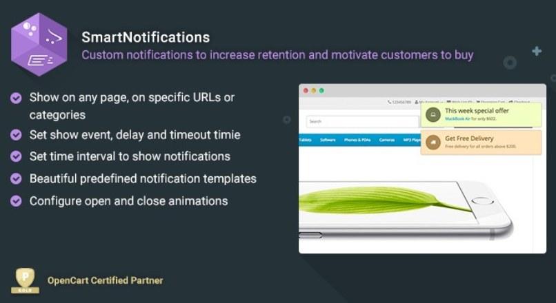 SmartNotifications — Всплывающие Сообщения v2.2.5