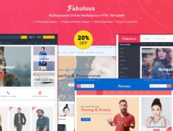Fabulous Multipurpose eCommerce HTML Template