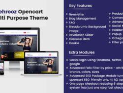 Behrooz Premium Opencart Theme compatible for oc 2.2,2.3,3.0